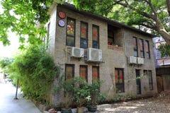 老工厂办公室在redtory创造性的庭院,广州,瓷里 免版税图库摄影