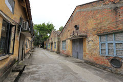 老工厂厂房在redtory创造性的庭院,广州,瓷里 库存图片