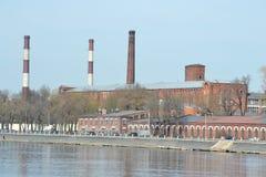 老工厂厂房,圣彼德堡 免版税库存照片
