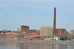 老工厂厂房,圣彼德堡 库存图片