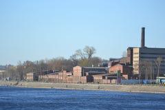 老工厂厂房,圣彼德堡 免版税库存图片