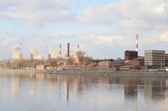 老工厂厂房,圣彼德堡 免版税图库摄影