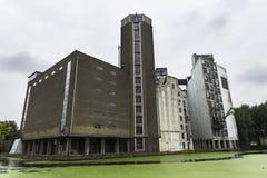 老工厂厂房,莱顿 免版税库存照片