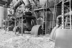 老工厂鼓风炉 库存图片