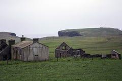 老左房子奥克尼海岸线Yesnaby峭壁风景 免版税库存图片