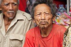 老巴厘语人 免版税库存图片