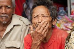 老巴厘语人 图库摄影