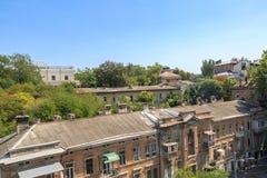 老市傲德萨有沃龙佐夫从tioschi的宫殿背景 免版税库存照片