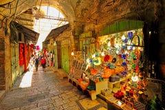 老市场在耶路撒冷。 免版税图库摄影