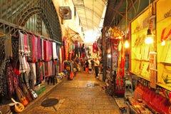 老市场在耶路撒冷。 免版税库存图片