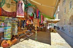 老市场在耶路撒冷。 库存照片