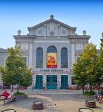 老市场霍尔大厦在布拉索夫 免版税库存照片