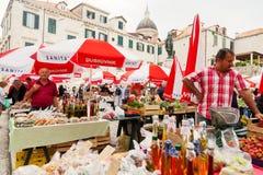 老市场,杜布罗夫尼克 库存图片