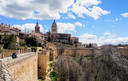 老市塞戈维亚,西班牙 免版税库存照片