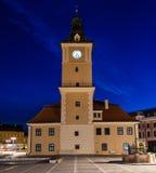 老市政厅在布拉索夫 免版税库存照片