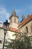 老市政厅的侧视图-布拉格-捷克共和国 库存图片
