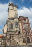 老市政厅的侧视图-布拉格-捷克共和国 免版税库存照片
