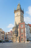 老市政厅的侧视图-布拉格-捷克共和国 库存照片