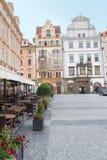 老市政厅的侧视图-布拉格-捷克共和国 免版税库存图片