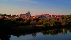 老市的全景托莱多,塔霍河,西班牙 免版税库存照片