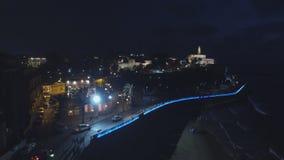 老市的看法贾法角在特拉维夫在晚上 股票视频