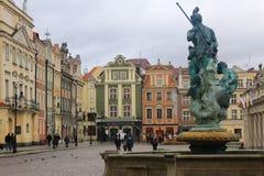 老市的秀丽波兹南,波兰 库存照片