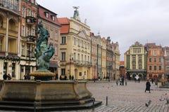 老市的秀丽波兹南,波兰 库存图片