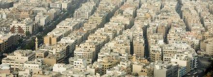 老市的空中全景迪拜 免版税图库摄影