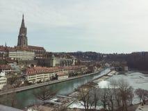 老市的风景伯尔尼 瑞士 免版税图库摄影