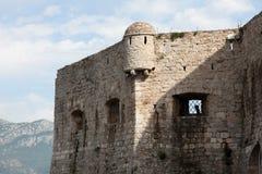 老布德瓦市墙壁,黑山 免版税库存照片