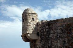 老布德瓦市墙壁,黑山 库存图片