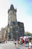 老布拉格城镇厅 免版税库存图片