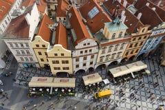 老布拉格屋顶  库存图片