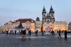 老布拉格方形城镇 库存照片