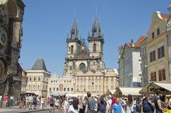 老布拉格方形城镇 免版税图库摄影