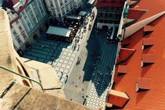 老布拉格正方形  免版税库存照片