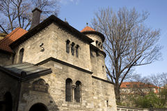 老布拉格犹太教堂 库存照片