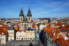 老布拉格,捷克都市风景  库存图片