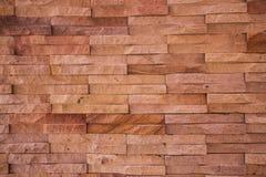 老布朗砖墙样式 免版税图库摄影