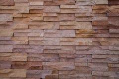老布朗砖墙样式 免版税库存图片