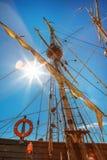 老帆船帆柱 免版税图库摄影