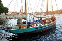 老帆船 库存图片