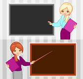 老师和女商人 免版税库存照片