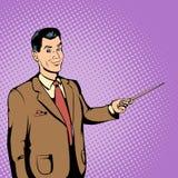老师概念,漫画样式 免版税库存照片