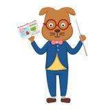 老师狗在教室 免版税库存图片
