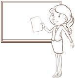 老师的一个简单的剪影 免版税库存照片
