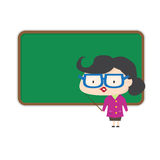 老师立场黑板 库存图片