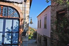 老希腊和土耳其村庄场面 免版税库存照片