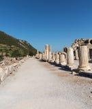 老希腊市古老废墟以弗所 免版税图库摄影