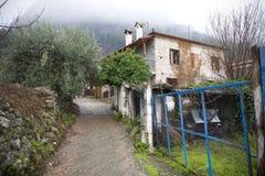 老希腊房子 免版税图库摄影